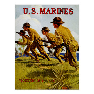 US Marines ~ Soldiers of the Sea Poster