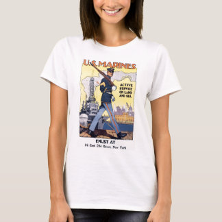 US Marines WWI Poster Vintage T-Shirt