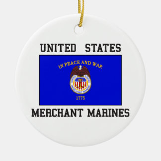US Merchant Marine Ceramic Ornament