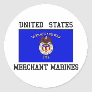 US Merchant Marine Classic Round Sticker