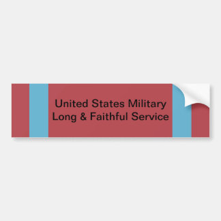 US Military Long and Faithful Service Ribbon Car Bumper Sticker