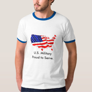 US Military/Proud to Serve Tshirt