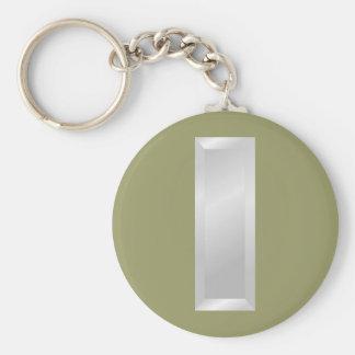 US Military Rank - 1st Lieutenant Basic Round Button Keychain