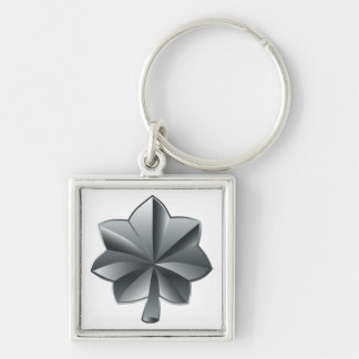 US Military Rank - Lieutenant Colonel Silver-Colored Square Keychain