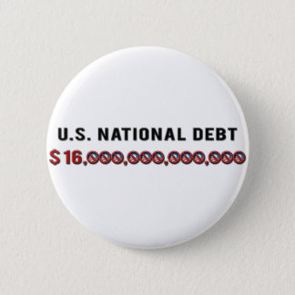 US National Debt 2 Inch Round Button