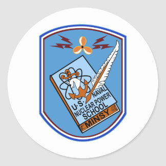 US NAVAL NUCLEAR POWER SCHOOL MINSY Military Patch Classic Round Sticker