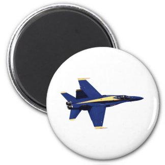 US NAVY Blue Angels In Flight at Fleet Week 2 Inch Round Magnet