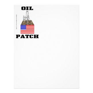 US Oil Patch,Letterhead,US Flag,Oil Rig,Oil,Gas Letterhead