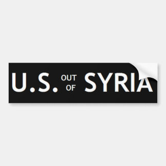 US OUT OF SYRIA Bumper Sticker