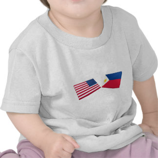 US & Philippines Flags Tees