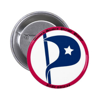 US Pirate Party 2 Inch Round Button