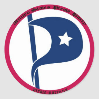 US Pirate Party Circular Sticker