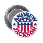 US President Andrew Jackson Buttons