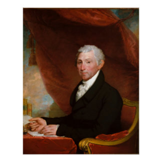 US President James Monroe by Gilbert Stuart Poster