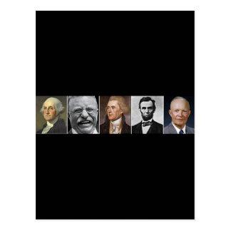 US Presidents Postcard