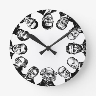 US Presidents Wall Clock