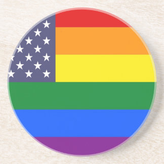 US Pride Flag Coaster
