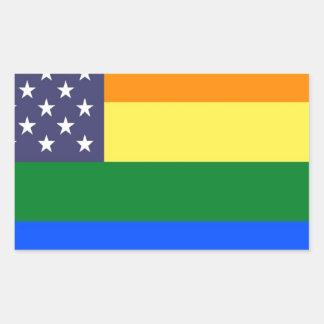 US Pride Flag Sticker