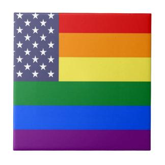 US Pride Flag Tile