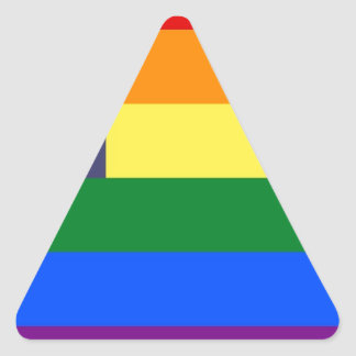 US Pride Flag Triangle Sticker