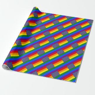 US Pride Flag Wrapping Paper