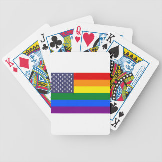 US Rainbow Pride Flag Bicycle Playing Cards