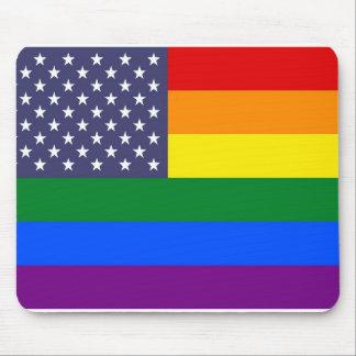 US Rainbow Pride Flag Mouse Pad