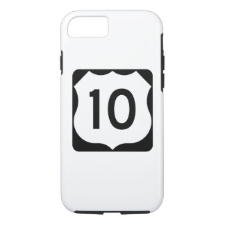 US Route 10 Sign iPhone 7 Case