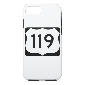 US Route 119 Sign iPhone 7 Case