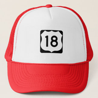 US Route 18 Sign Trucker Hat