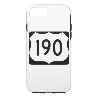 US Route 190 Sign iPhone 7 Case