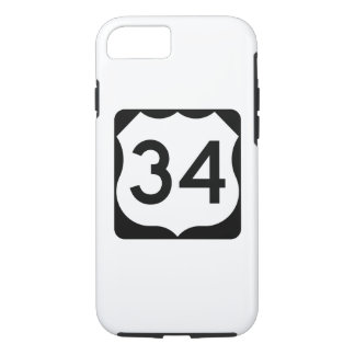 US Route 34 Sign iPhone 7 Case