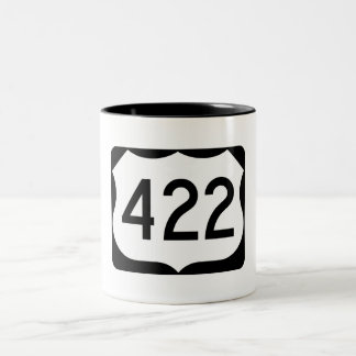 US Route 422 Sign Two-Tone Coffee Mug