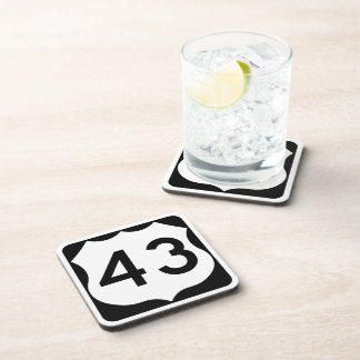 US Route 43 Sign Coaster