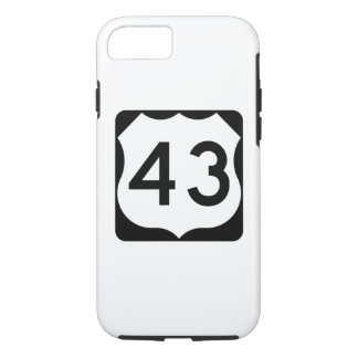 US Route 43 Sign iPhone 7 Case