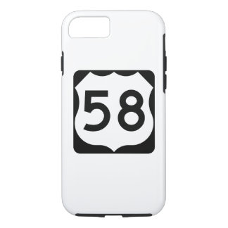 US Route 58 Sign iPhone 7 Case