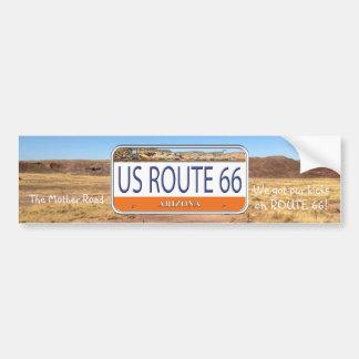 US ROUTE 66 ARIZONA Vanity Plate Bumper Sticker