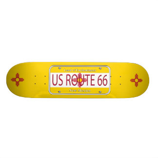 US ROUTE 66 NEW MEXICO FLAG Vanity Plate Skateboard Deck