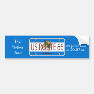 US ROUTE 66 OKLAHOMA Bumper  Stickers