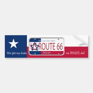 US ROUTE 66 TEXAS BUMPER STICKER