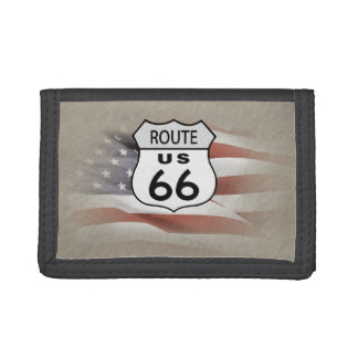 US Route 66. Tri-fold Wallets