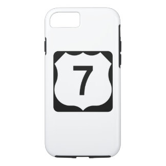 US Route 7 Sign iPhone 7 Case