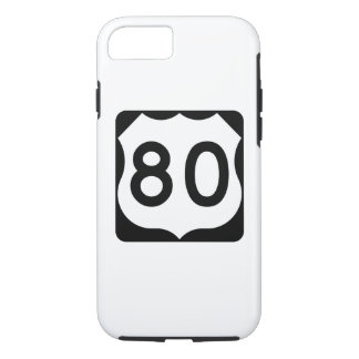 US Route 80 Sign iPhone 7 Case