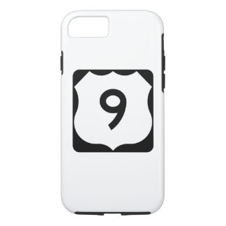 US Route 9 Sign iPhone 7 Case