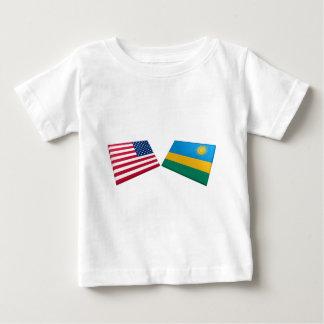 US & Rwanda Flags Baby T-Shirt