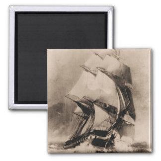 US ship Consellation Square Magnet