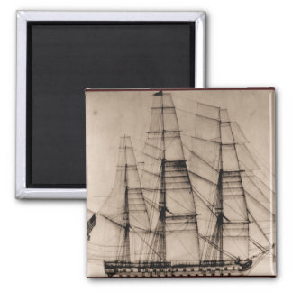 US Ships Columbus sailplan Square Magnet