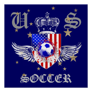 US Soccer Coat of Arms 2012 2014 USA sports Poster