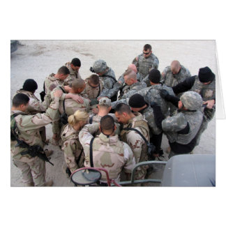 US Soldiers Praying - Customized Card