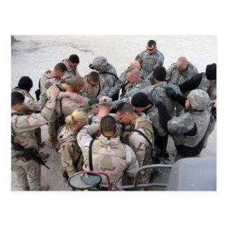 US Soldiers Praying - Customized Postcard